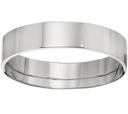 Men's 18K White Gold 5mm Flat Comfort Fit Wedding Band