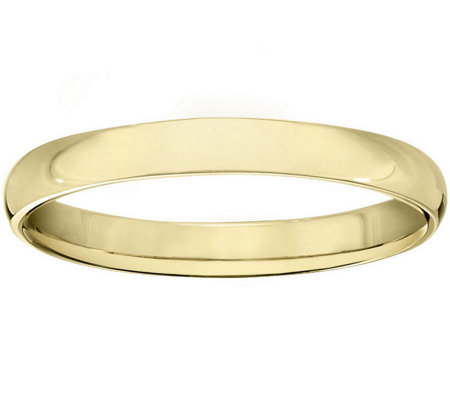 Women's 18K Yellow Gold 3mm Half Round WeddingBand