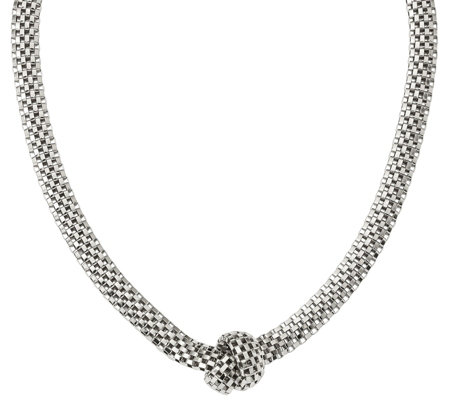 "Sterling Knotted 16"" Necklace, 24.9g by S ilverStyle"