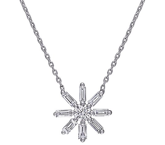 Affinity 5/8 cttw Diamond Flower Necklace, 14K