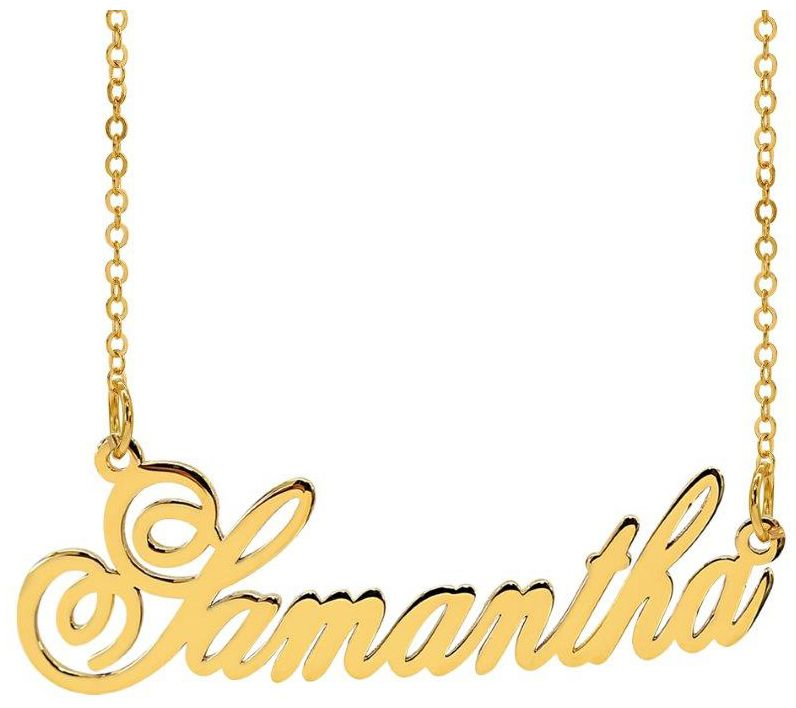personalize name with singapore chain 14k gold