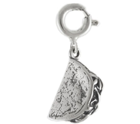 Sterling Taco Charm