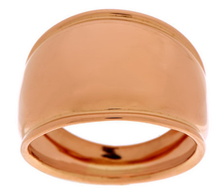 EternaGold Bold Polished Cigar Band Ring 14K Gold Page 1 — QVC