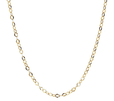 "24"" Hammered Oval Link Chain, 14K Gold 2.1g"