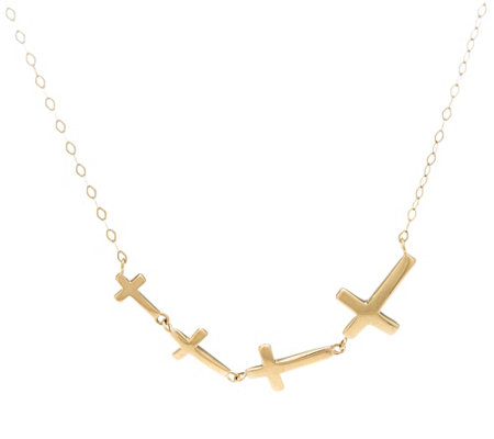 "EternaGold 20"" Multi-cross Link Necklace 14K Gold, 1.7g"