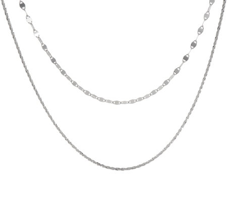 "Sterling 13"" Adjustable Double Strand Choker Necklace"