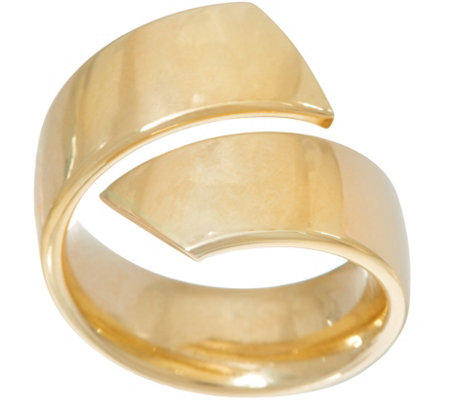 14K Gold Bold Polished Bypass Ring