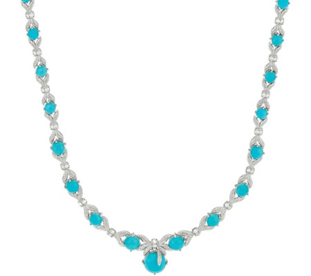 Turquoise Sterling Statement Necklace