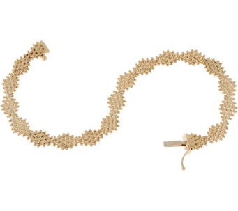 Imperial Gold 6 3 4 Diamond Shape Lame Bracelet 14k