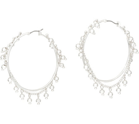 Samantha Wills 'Nightfall' Large Hoop Earrings with Dangle Beads