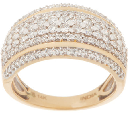 Affinity Diamond 14k Gold Double Band Accent Ring 1 00 Cttw Page