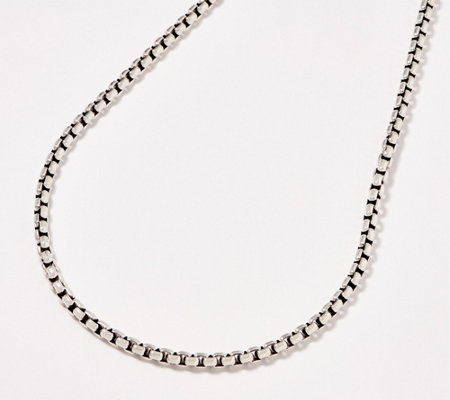 "JAI Sterling Silver 5.3mm Box Chain 18"" Necklace, 49.3g"