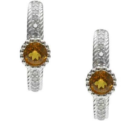 Judith Ripka Sterling Silver Gemstone Earrings