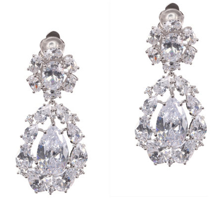 Nina Jewelry Small Cluster Teardrop Earrings