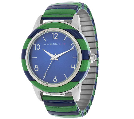 Isaac Mizrahi Live! Striped Expansion Watch