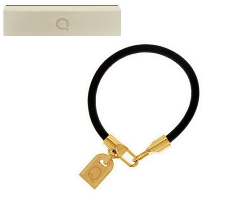 """As Is"" Bronzo Italia Yellow Bronze Initial Tag Bracelet"