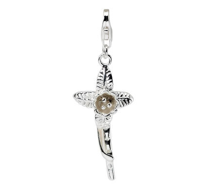 Amore La Vita Sterling Dimensional PolishedFlower Charm