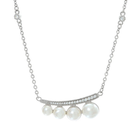 Judith Ripka Sterling Silver Cultured Freshwater Pearl Necklace