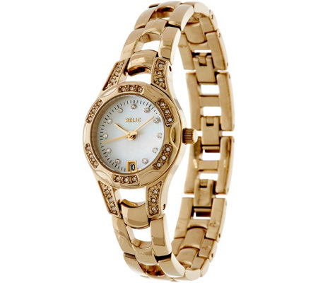 Relic Goldtone Stainless Steel Bracelet Watch - Charlotte