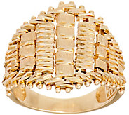 Imperial Gold Satin Lame Marquise Shaped Ring, 14K Gold - J351059