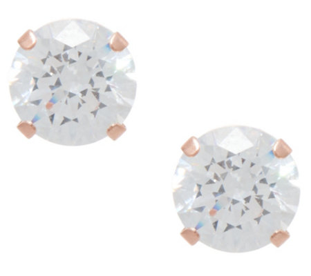 Diamonique 2.00 cttw Round Studs, 14K Gold