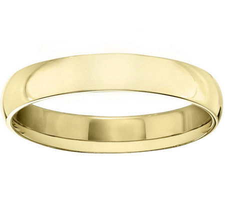 Men's 18K Yellow Gold 4mm Half Round Wedding Band