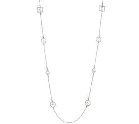 "Sterling Geometric Link 36"" Necklace, 11g by Silver Style"