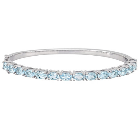 Sterling Silver 7.50 cttw Sky Blue Topaz TennisBangle