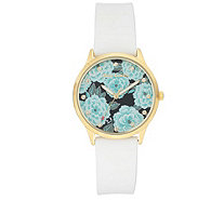 Juicy Couture Women's Floral Pattern Dial Watch - J388959