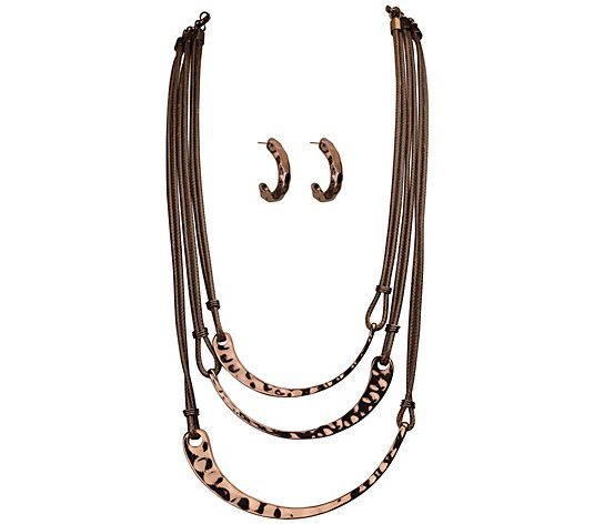 Linea by Louis Dell'Olio Scythe Necklace and Earring Set