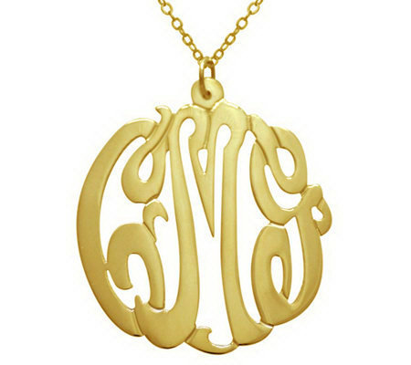 7 8 Personalized Script Pendant W Chain Sterling Plated