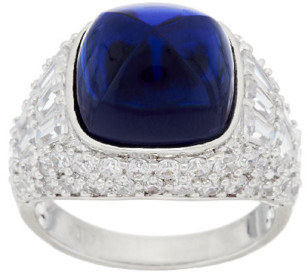 The Elizabeth Taylor 4.35cttw Sugarloaf Simulated Sapphire Ring