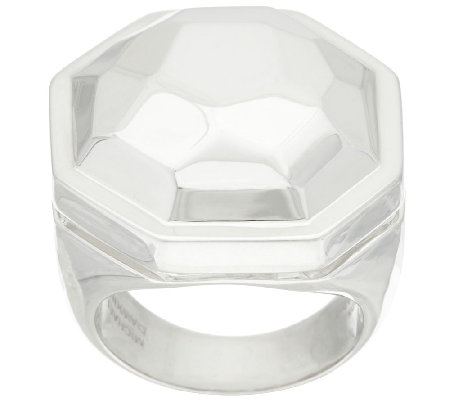Michael Dawkins Sterling Faceted Statement Ring