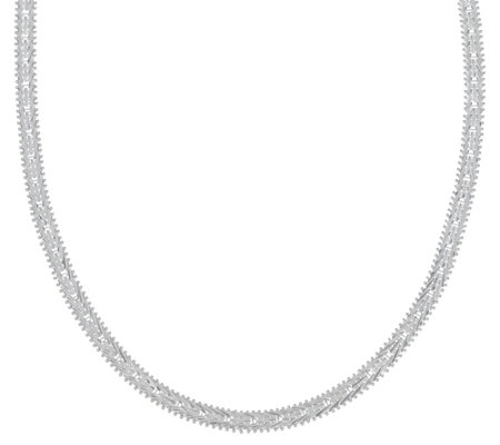 "Imperial Silver 18"" Mirror Wheat Necklace, Sterling 27.8g"