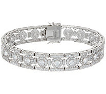 Diamonique Royal Collection Halo Bracelet, Sterling - J356160