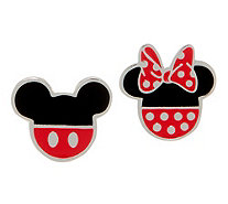Mickey's 90th Birthday Mickey & Minnie Stud Earrings, Sterling Silver - J358060