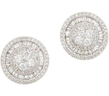 Affinity Diamond 14k Gold Round Stud Earrings 1 00 Cttw