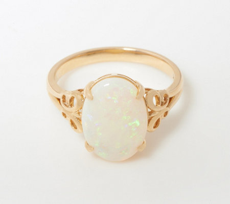 14k Gold Opal Openwork Ring