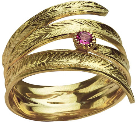 Adi Paz Textured Gemstone Accent Bypass Ring, 1 4K Gold
