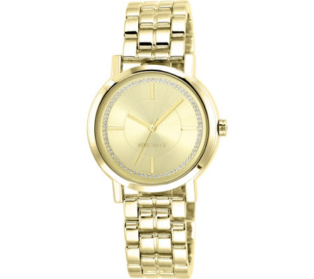 Nine West Ladies Goldtone Ina Bracelet Watch