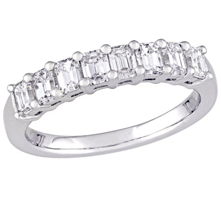 Affinity 14K 9/10 cttw Emerald-cut Diamond 8-Stone Band Ring
