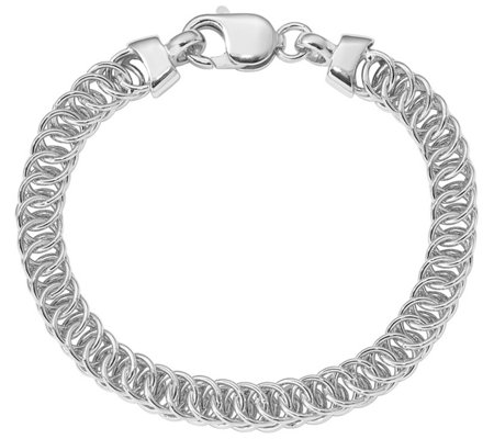 Sterling Double Cable Link Bracelet 19 8g