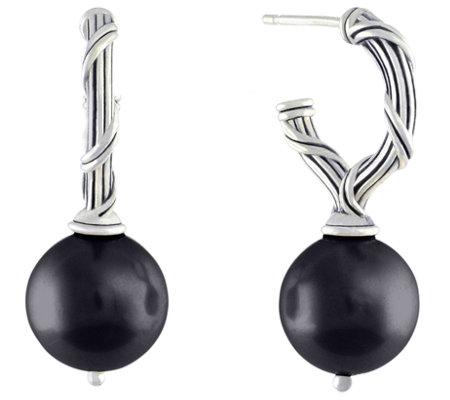 Peter Thomas Roth Sterling Onyx Bead Earrings