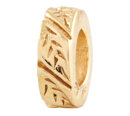 Prerogatives Gold-Plated Sterling Leaf Design Spacer Bead