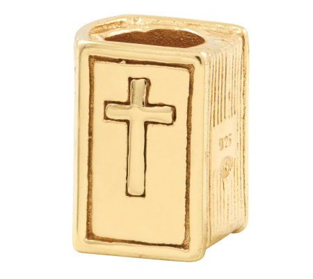Prerogatives 14K Yellow Gold-Plated Sterling Bible Bead