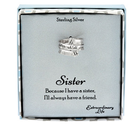 Extraordinary Life Sterling Message Bypass Ring