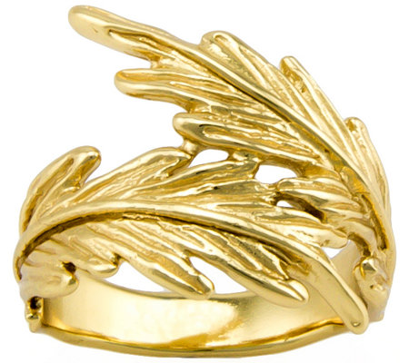 Hagit Sterling and 14K Clad Feather Ring