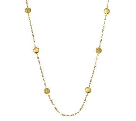 "14K Gold Bead Station 32"" Necklace, 7.6g"