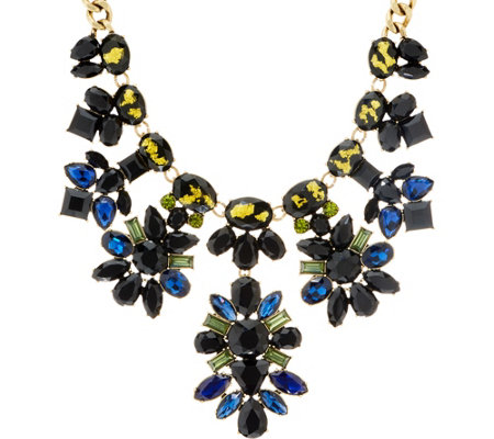 Logo Links Midnight Clusters Statement Necklace