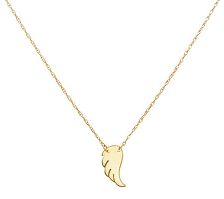 14K Gold Bitty Angel Wing Motif Necklace